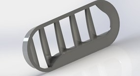 ABS plastic grill part